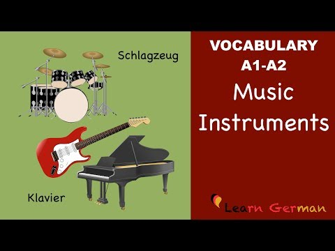 Learn German Vocabulary - Musical instruments in German