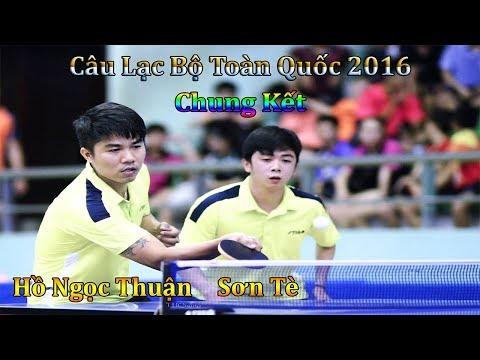 Hồ Ngọc Thuận Phạm Thanh Sơn vs Tuấn Nam Định Minh Thái Bình - Chung Kết Giải Các CLB Toàn Quốc 2016