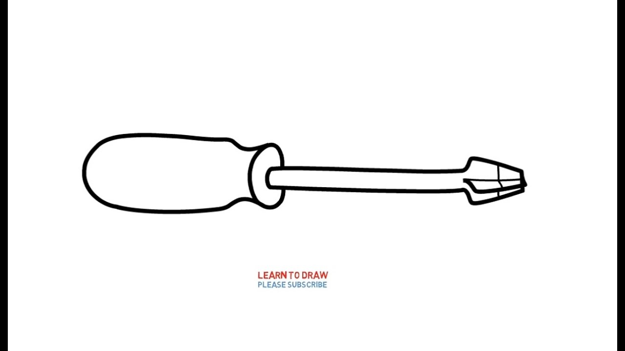 Easy Step For Kids How to draw a Phillips Screwdriver - YouTube
