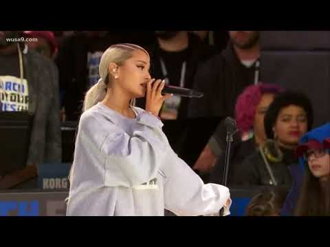 "Music Artist Ariana Grande performs ""Be Alright"" at March For Our Lives Rally"
