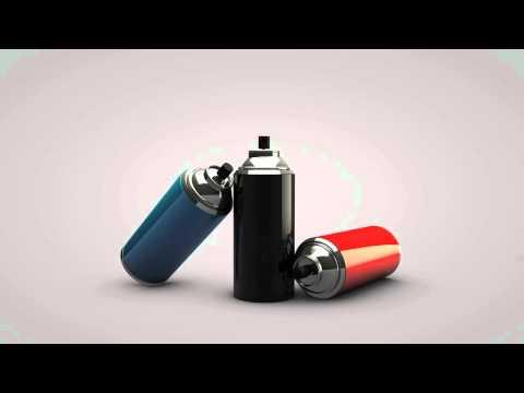 Spray Paint can model!! _ Cinema