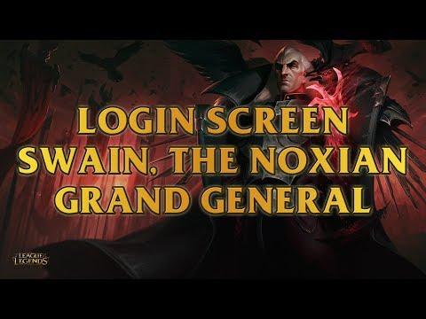 Swain, The Noxian Grand General Login Screen