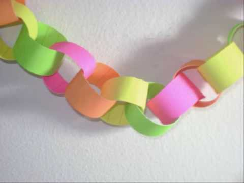 How to Make Paper Chains - Making Paper Chains for Kids is one of the easiest paper craft projects you can do -- and the results are beautiful! With some scissors, tape, and your favorite colors of paper, paper chain projects will come easy.