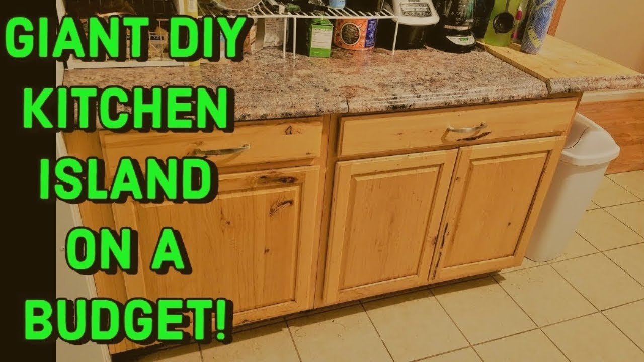 kitchen islands for cheap cheap big kitchen island w storage built in cutting board youtube 5981