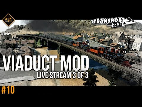 Viaducts and Bridges | Transport Fever Metropolis #10 live stream part 3 of 3