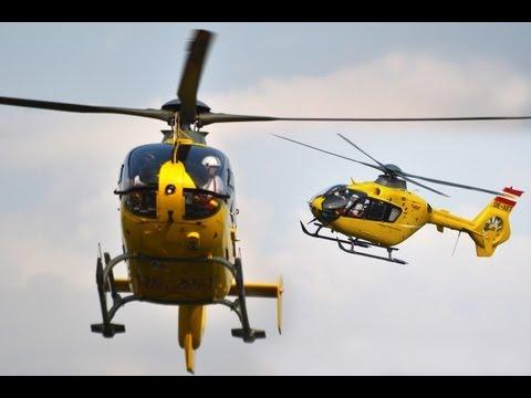 Eurocopter Ec-135 formation flight to Hungaroring
