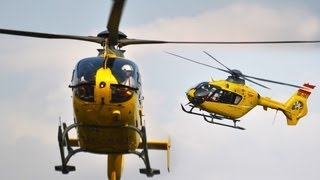 Eurocopter Ec-135 formation flight to Hungaroring