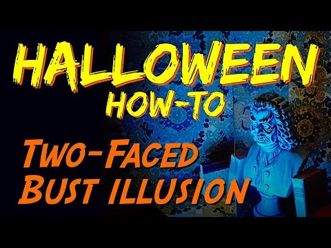 DIY Halloween SFX Optical Illusion Prop & How-To | Two-Faced Bust