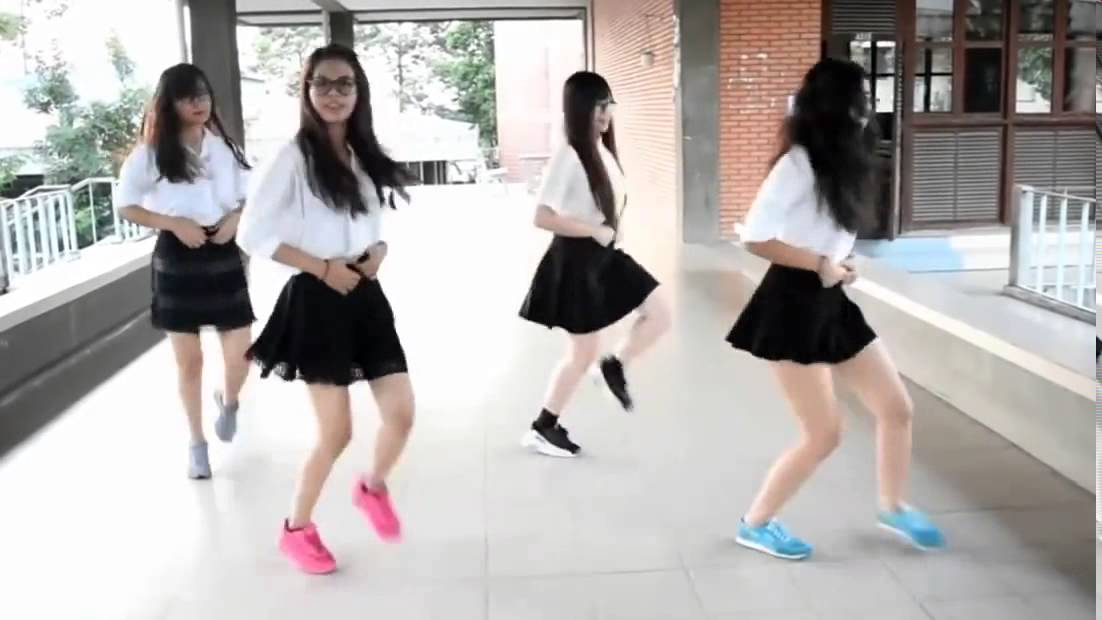 Asian girls dancing