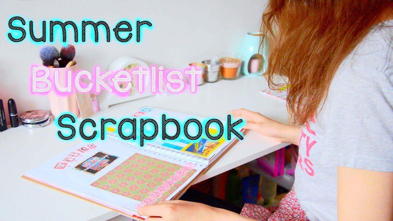 Scrapbook ideas list - Summer Bucketlist Scrapbook Imogen Jane