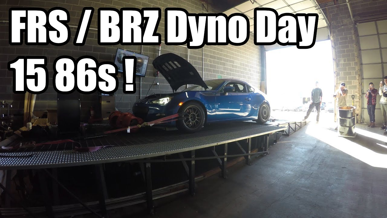 86 FRS BRZ Dyno Day Results (15 86s) - Point Me By
