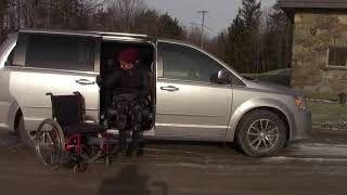 Easy-Reach Exiting Passenger Rear of Dodge Caravan 2011-Present (Exterior View)