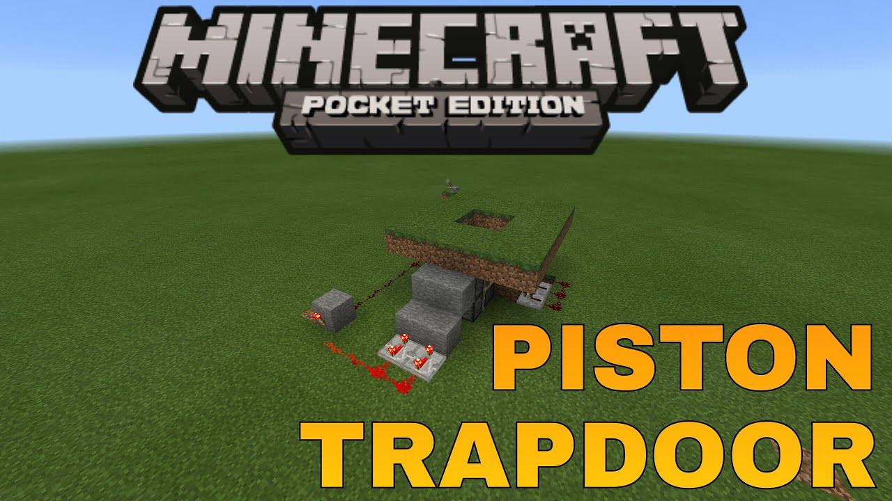 how to make a trapdoor in minecraft pe