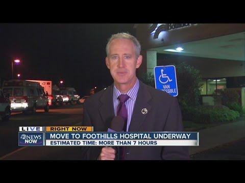 Boulder Community Hospital ER patients being moved