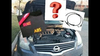 2008 Nissan Altima- HOW to Change the ABS brake Sensor and RESET...