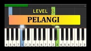 not piano pelangi - tutorial piano tingkat 1 - lagu anak anak ciptaan at.mahmud