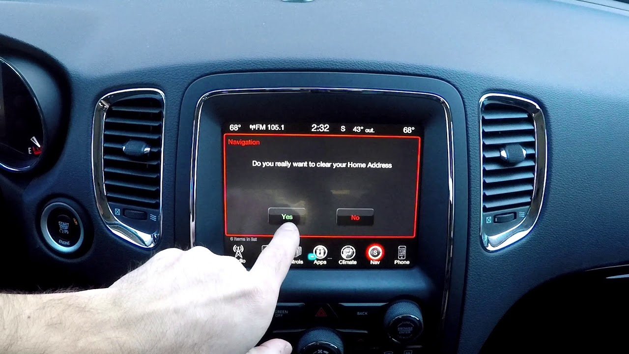 Gps Home Reset Uconnect 8 4 Dodge Jeep All Chrysler Vehicles Youtube