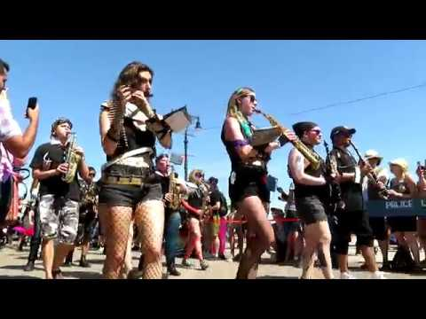 Marching band performs AWOLNATION (Mermaid Parade)