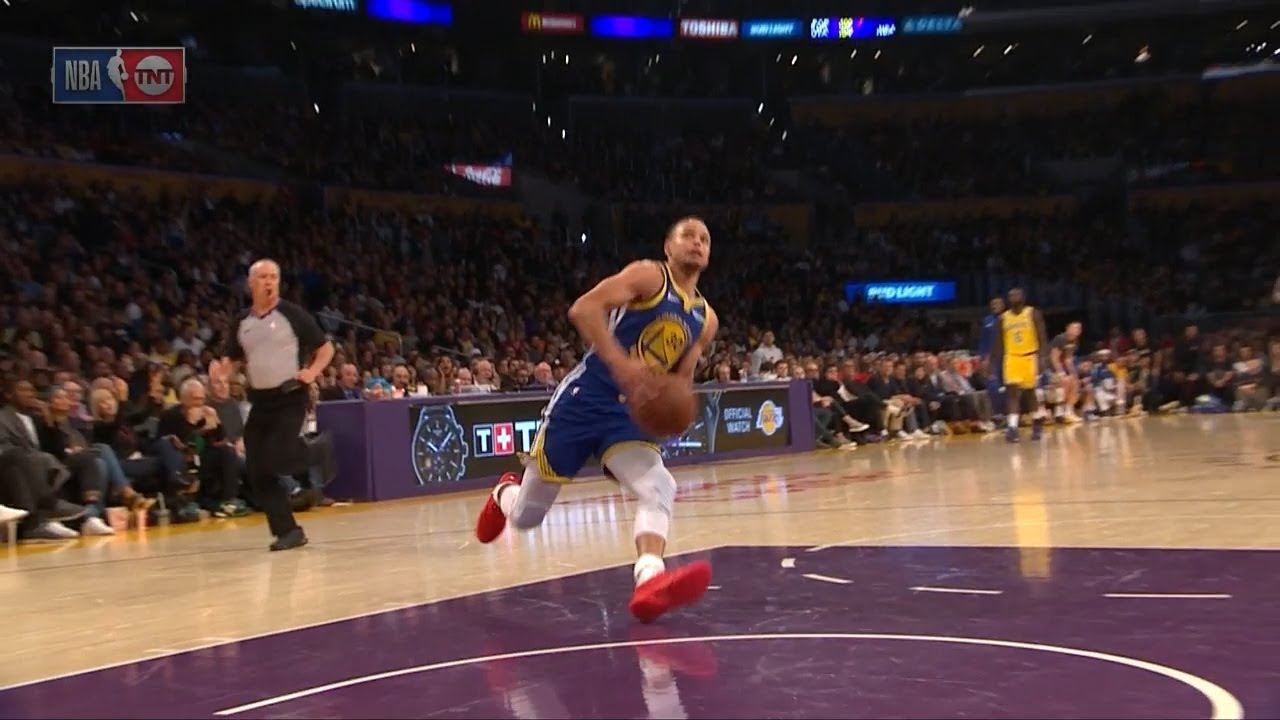 Stephen Curry Slips on a Dunk Attempt - Shaqtin' A Fool  - Warriors vs Lakers | Jan 21, 2019