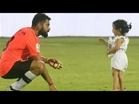 Dhoni Daughter Ziva on cricket ground | cute moments