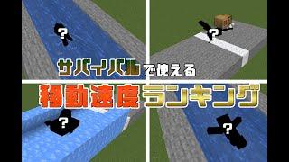 【Minecraft】サバイバルで使える移動手段ランキング!!【1.16】