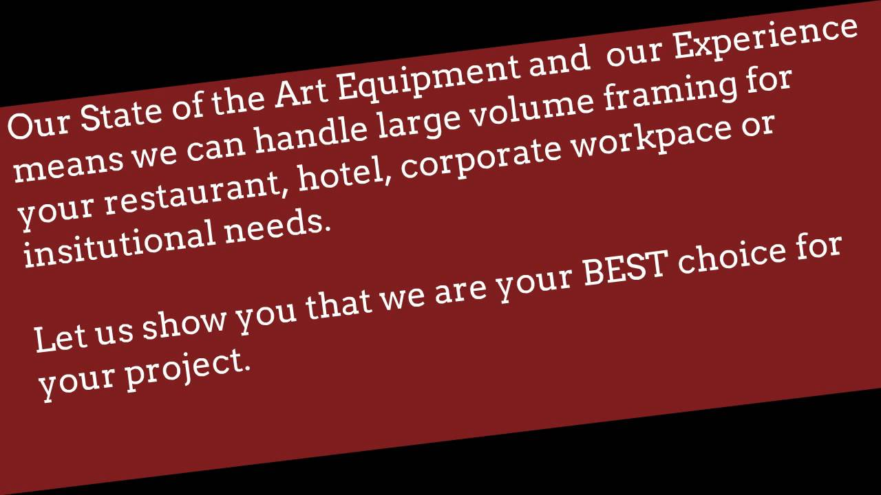Art Company Edmonton, custom picture framing, corporate picture ...