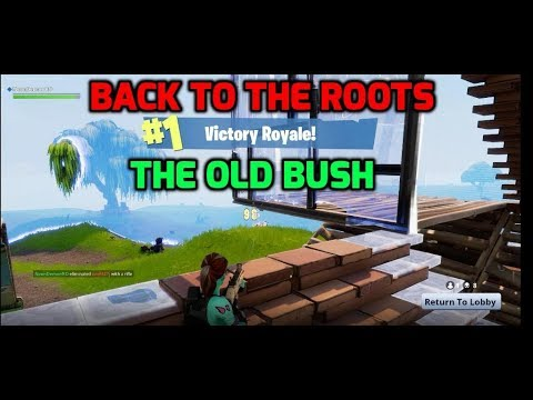 WIN #62 - OLD STYLE BUSH IS BETTER (Fortnite Battle Royale / Victory Royale)
