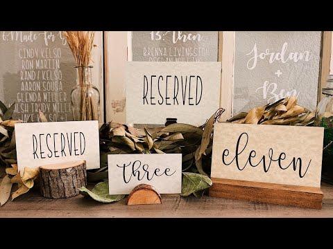 DIY Table Numbers | Rustic Wedding Decor | Cut Cardstock Cricut Maker | Cricut Design Space