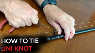 How Tie Uni Knot | For Ringed Fishing Hooks
