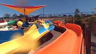 ethan on kids slides at wet n wild sydney
