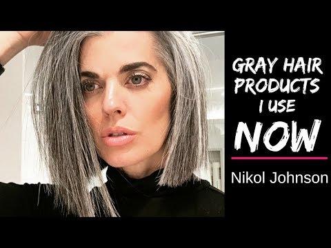 GRAY HAIR PRODUCTS | I USE NOW | Nikol Johnson