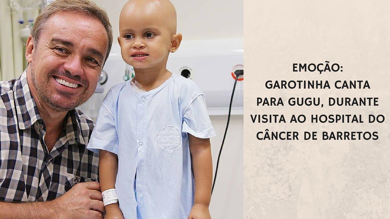 Hospital do Câncer de Barretos: Garotinha canta para Gugu