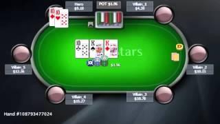Раздача дня Школы Покера PokerStarter: Учимся расставаться с фулл хаусом.