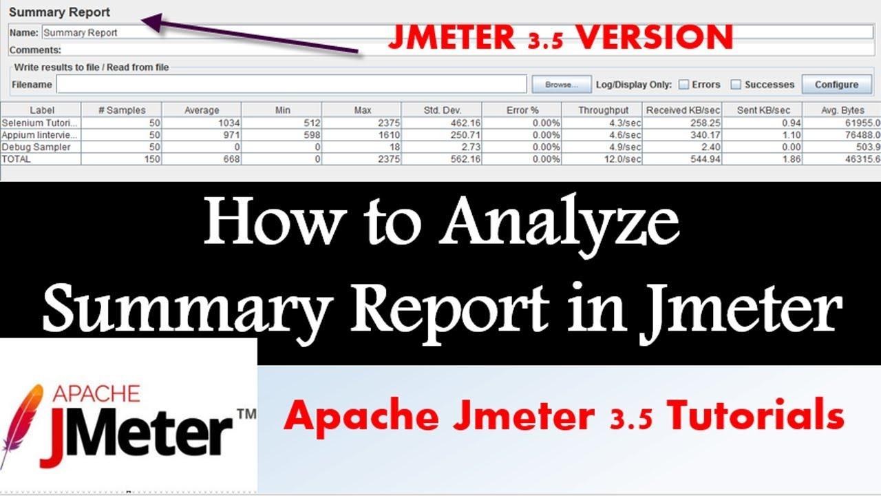 Jmeter Tutorial | How to Analyze Summary Report in Jmeter ...
