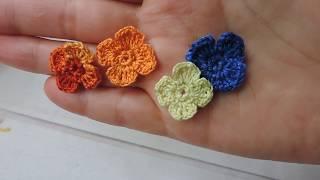 Мелочи вязаные крючком (из остатков). Цветочек