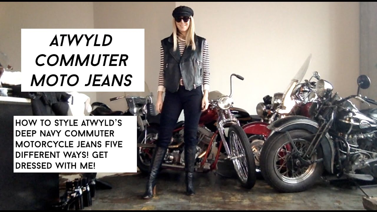 f2fe3d836ba Atwyld Commuter Jeans  How To Style High Waisted Moto Jeans - YouTube