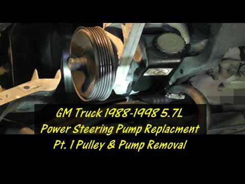 GM Truck Power Steering Pump Replacement Series PT.1 Old Pump Removal