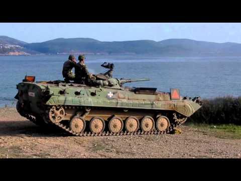 BMP1 IFV firing. HD video