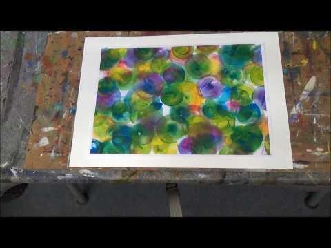 """Acrylmalerei. für Anfänger . erste Schritte-  """"Bunte Blasen"""""""