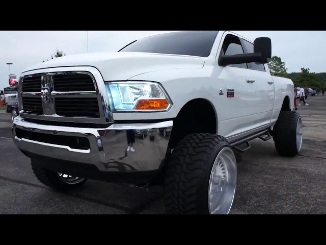 White Lifted Ram 2500 on Specialty Forged Wheels