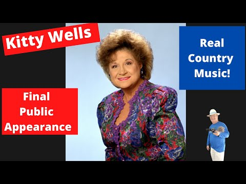 Kitty Wells last public appearance - Marty Stuart show with Connie Smith.