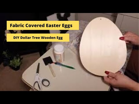 🌷DIY Fabric Covered Easter Eggs L Dollar Tree Craft