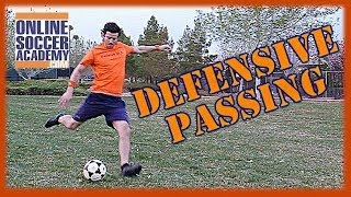 advanced defense passing out of pressure by online soccer academy