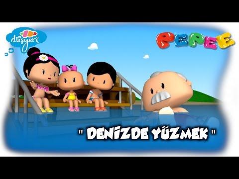 Pepee Yeni Bölüm:12 / Denizde Yüzmek - Çizgi Film | Düşyeri