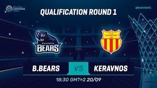 LIVE 🔴 - Bakken Bears v Keravnos - Qual. Rd. 1 - Basketball Champions League 2019-20