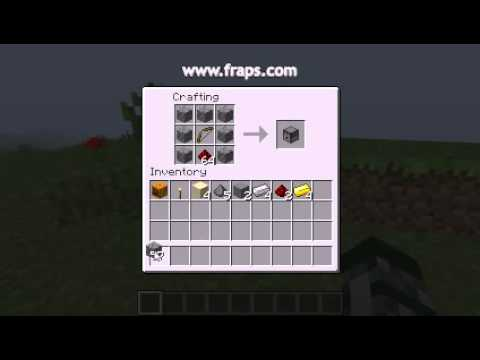 minecraft how to make a fridge with dispenser