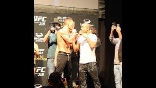 UFC 218 Ceremonial Weigh-In Highlights