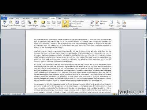 Word tutorial: How to track changes in documents | lynda.com