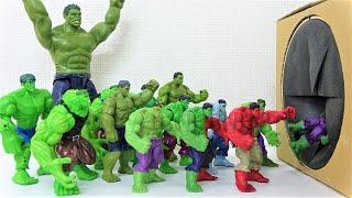 Hulk, Red Hulk, Gray Hulk Step into the Toys' Box! Marvel Avengers Superheroes Toys