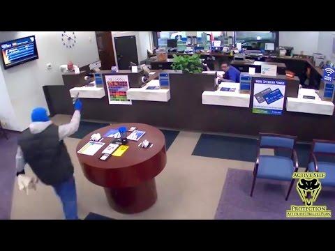 Guard Beats Bank Robber to the Shot | Active Self Protection